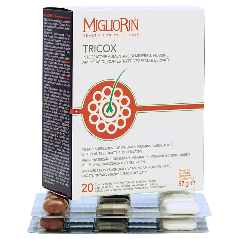 MIGLIORIN TRIOX for healthy hair, nails and joints (60 capsules)