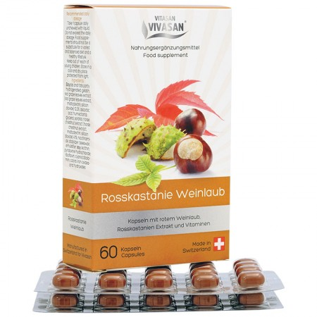 Horse chestnut with red vine leaves (60 capsules) — Vivasan
