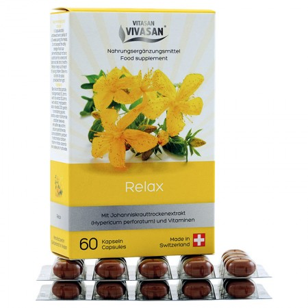 RELAX plus Vitamins - YELLOW Cantarion Hypericin in capsules — Vivasan
