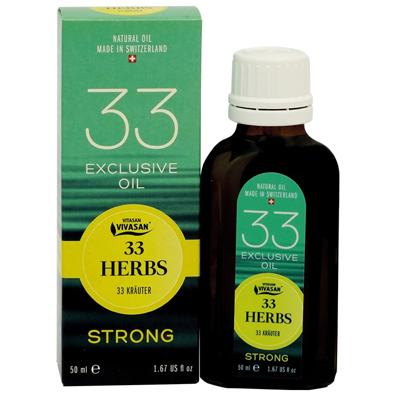"Natural essential oil from ""33 herbs Strong"""