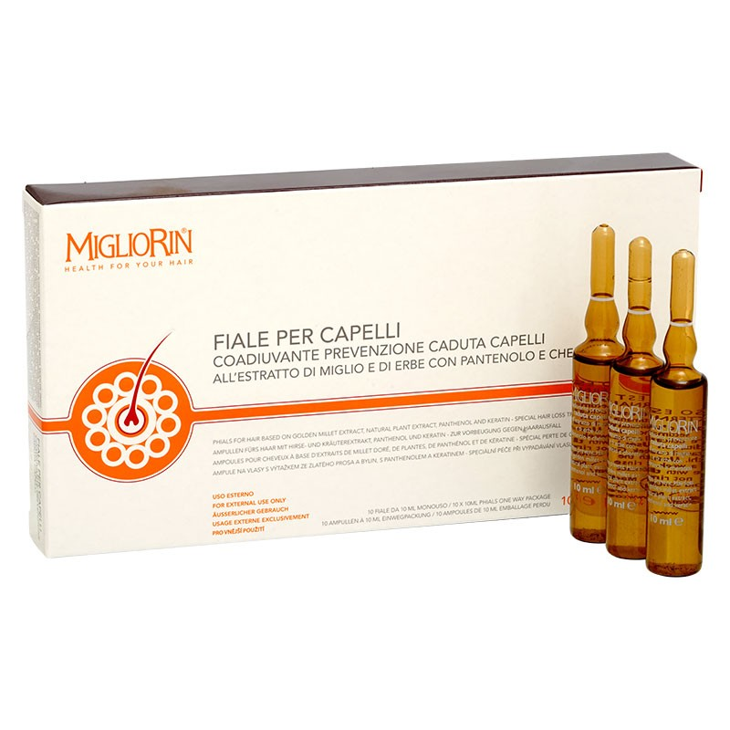 Migliorin ampoules against hair loss